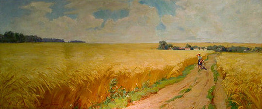 'In The Wheat Field' by Nicolai Aleexievich Trunov