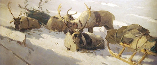 'Sunny Morning in the Tundra' by Vladimir Igoshev
